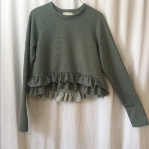 Truly Madly Deeply soft green cropped Sweater S